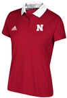 Adidas 2017 Husker Ladies Sideline Polo - AP-A2103
