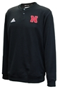 Adidas 2020 Nebraska Button Up Coaches Sweater - Black Nebraska Cornhuskers, Nebraska  Mens, Huskers  Mens, Nebraska  Mens Outerwear, Huskers  Mens Outerwear, Nebraska Adidas, Huskers Adidas, Nebraska Adidas Nebraska Button Up Coaches Sweater - Black, Huskers Adidas Nebraska Button Up Coaches Sweater - Black