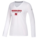 Adidas Husker Gals LS Ultimate Sideline Nebraska Cornhuskers, Nebraska  Ladies T-SHIrts, Huskers  Ladies T-SHIrts, Nebraska  Ladies Tops, Huskers  Ladies Tops, Nebraska  Long Sleeve, Huskers  Long Sleeve, Nebraska  Ladies, Huskers  Ladies, Nebraska Adidas W White LS Ultimate Sideline, Huskers Adidas W White LS Ultimate Sideline