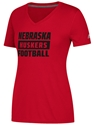 Adidas Lady Big Block Huskers V-Neck Tee Nebraska Cornhuskers, Nebraska  Ladies Tops, Huskers  Ladies Tops, Nebraska  Ladies T-Shirts, Huskers  Ladies T-Shirts, Nebraska  Ladies, Huskers  Ladies, Nebraska  Short Sleeve, Huskers  Short Sleeve, Nebraska Adidas W Red SS Ultimate Vneck Big Block, Huskers Adidas W Red SS Ultimate Vneck Big Block