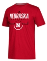 Adidas On Court Huskers  Basketball Tee Nebraska Cornhuskers, Nebraska  Mens T-Shirts, Huskers  Mens T-Shirts, Nebraska  Mens, Huskers  Mens, Nebraska  Short Sleeve, Huskers  Short Sleeve, Nebraska  Basketball , Huskers  Basketball , Nebraska Adidas On Court Huskers  Basketball Tee, Huskers Adidas On Court Huskers  Basketball Tee