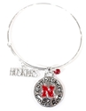 Bangle Huskers Charm Bracelet Nebraska Cornhuskers, Nebraska  Ladies Accessories, Huskers  Ladies Accessories, Nebraska  Jewelry & Hair, Huskers  Jewelry & Hair, Nebraska Bangle Circle Charm Sandol Bracelet, Huskers Bangle Circle Charm Sandol Bracelet