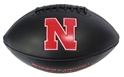 Black Matted Iron N Embossed Autograph Football Nebraska Cornhuskers, Nebraska  Balls, Huskers  Balls, Nebraska Collectibles, Huskers Collectibles, Nebraska Black Foil Autograph Football Baden, Huskers Black Foil Autograph Football Baden