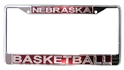 Chrome Nebraska Basketball License Plate Nebraska Cornhuskers, Nebraska Vehicle, Huskers Vehicle, Nebraska Basketball, Huskers Basketball, Nebraska Chrome Nebraska Basketball License Plate, Huskers Chrome Nebraska Basketball License Plate