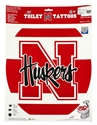 "Classic N-Huskers Rounded Toilet Seat ""Tattoo"" Nebraska Cornhuskers, Nebraska  Bedroom & Bathroom, Huskers  Bedroom & Bathroom, Nebraska Round Toliet Seat Tattoo, Huskers Round Toliet Seat Tattoo"