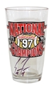 Coach Frost Signed 1997 National Champs Husker Pint Glass Nebraska Cornhuskers, Nebraska  Tailgating, Huskers  Tailgating, Nebraska  Kitchen & Glassware, Huskers  Kitchen & Glassware, Nebraska Husker Pint Glass, Huskers Husker Pint Glass