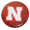 Go Big N Red Button Pin Nebraska Cornhuskers, Go Big N Red Button Pin