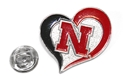 Heart Lapel Pin Nebraska Cornhuskers, Nebraska  Ties & Pins, Huskers  Ties & Pins, Nebraska Heart Lapel Pin, Huskers Heart Lapel Pin
