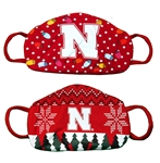 Holiday Husker Masks 2 Pack Nebraska Cornhuskers, Nebraska  Ladies, Huskers  Ladies, Nebraska  Mens, Huskers  Mens, Nebraska  Mens Accessories, Huskers  Mens Accessories, Nebraska  Ladies Accessories, Huskers  Ladies Accessories, Holiday Nebraska Nebraska Huskers Mask, Holiday Huskers Nebraska Huskers 2 pack Mask