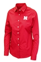 Husker Gals Long Sleeve Button Up Dress Shirt Nebraska Cornhuskers, Nebraska  womens T-Shirts, Huskers  womens,  Button Up, Women Long Sleeve Button Up Shirt