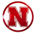 Husker Iron N Reflective Metal Yard / Wall Sign Nebraska Cornhuskers, Nebraska  Patio, Lawn & Garden, Huskers  Patio, Lawn & Garden, Nebraska Metal Huskers Scenic Art Circle, Huskers Metal Huskers Scenic Art Circle