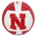 Husker Mini Volleyball Nebraska cornhuskers, Nebraska cornhuskers merchandise, Nebraska cornhuskers volleyball, husker volley, nebraska volleyball, red and white husker volleyball