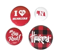 Huskers 4 Pack Button Set Nebraska Cornhuskers, Nebraska  Beads & Fun Stuff, Huskers  Beads & Fun Stuff, Nebraska  Beads & Fun Stuff , Huskers  Beads & Fun Stuff , Nebraska Huskers 4 Pack Button Set, Huskers Huskers 4 Pack Button Set