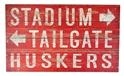 Huskers Stadium Tailgate Plank Sign Nebraska Cornhuskers, Nebraska  Framed Pieces, Huskers  Framed Pieces, Nebraska Red Stadium Tailgate Plank Sign Legacy, Huskers Red Stadium Tailgate Plank Sign Legacy