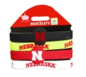 Huskers Stretch Bracelets Nebraska Cornhuskers, Nebraska  Jewelry & Hair, Huskers  Jewelry & Hair, Nebraska  Ladies Accessories, Huskers  Ladies Accessories, Nebraska  Mens Accessories, Huskers  Mens Accessories, Nebraska Huskers Rubber Bracelets, Huskers Huskers Rubber Bracelets