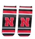 Huskers Striped No Show Socks Nebraska Cornhuskers, Nebraska  Footwear, Huskers  Footwear, Nebraska  Mens Underwear & PJs, Huskers  Mens Underwear & PJs, Nebraska  Ladies Underwear & PJs, Huskers  Ladies Underwear & PJs, Nebraska Huskers Striped No Show Socks, Huskers Huskers Striped No Show Socks