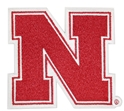 Iron N 4 Inch Embroidered Patch Nebraska Cornhuskers, Iron N Patch 4 Inch