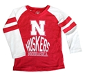 Kids Nebraska Huskers Cherry Stripe Raglan Nebraska Cornhuskers, Nebraska  Infant, Huskers  Infant, Nebraska  Childrens, Huskers  Childrens, Nebraska  Kids, Huskers  Kids, Nebraska Kids Nebraska Huskers Cherry Stripe Raglan, Huskers Kids Nebraska Huskers Cherry Stripe Raglan