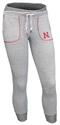 Ladies Husker Bogey Terry Jogger Nebraska Cornhuskers, Nebraska  Shorts, Pants & Skirts, Huskers  Shorts, Pants & Skirts, Nebraska Shorts & Pants, Huskers Shorts & Pants, Nebraska Gray W Bogey Terry Jogger Col, Huskers Gray W Bogey Terry Jogger Col