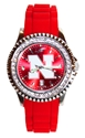 Ladies Nebraska Diamonds Watch Nebraska Cornhuskers, Nebraska  Ladies Accessories, Huskers  Ladies Accessories, Nebraska  Ladies, Huskers  Ladies, Nebraska  Watches Bands & Buckles, Huskers  Watches Bands & Buckles, Nebraska Red Sparkle W Rubber Watch, Huskers Red Sparkle W Rubber Watch