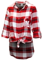 Ladies Nebraska Flannel Tunic Nebraska Cornhuskers, Nebraska  Ladies Tops, Huskers  Ladies Tops, Nebraska Ladies Nebraska Flannel Tunic, Huskers Ladies Nebraska Flannel Tunic