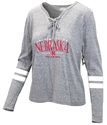 Ladies University of Nebraska Lace Up Stripe Tee Nebraska Cornhuskers, Nebraska  Ladies Tops, Huskers  Ladies Tops, Nebraska Ladies University of Nebraska Lace Up Stripe Tee, Huskers Ladies University of Nebraska Lace Up Stripe Tee