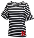 Lady Husker N Ruffle Sleeve Tee Nebraska Cornhuskers, Nebraska  Ladies Tops, Huskers  Ladies Tops, Nebraska Lady Husker N Ruffle Sleeve Tee, Huskers Lady Husker N Ruffle Sleeve Tee
