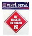 Lil Husker On Board Decal Nebraska Cornhuskers, Nebraska Stickers Decals & Magnets, Huskers Stickers Decals & Magnets, Nebraska Vehicle, Huskers Vehicle, Nebraska  Infant, Huskers  Infant, Nebraska Lil Husker On Board Decal, Huskers Lil Husker On Board Decal