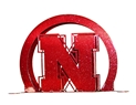 Metal Huskers Napkin and Letter Holder Nebraska Cornhuskers, Nebraska  Office Den & Entry, Huskers  Office Den & Entry, Nebraska Metal Huskers Letter Holder, Huskers Metal Huskers Letter Holder