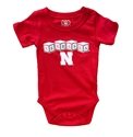 Nebraska Blocks Hopper Onesie Nebraska Cornhuskers, Nebraska  Infant, Huskers  Infant, Nebraska Nebraska Blocks Hopper Onesie, Huskers Nebraska Blocks Hopper Onesie