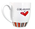 Nebraska Cornhusker Heart Striped Mug Nebraska Cornhuskers, Nebraska  Kitchen & Glassware, Huskers  Kitchen & Glassware, Nebraska Nebraska Cornhusker Heart Striped Mug, Huskers Nebraska Cornhusker Heart Striped Mug