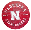Nebraska Cornhuskers Round Wall Sign Nebraska Cornhuskers, Nebraska  Bedroom & Bathroom, Huskers  Bedroom & Bathroom, Nebraska  Game Room & Big Red Room, Huskers  Game Room & Big Red Room, Nebraska  Framed Pieces, Huskers  Framed Pieces, Nebraska Nebraska Cornhuskers Round Wall Sign, Huskers Nebraska Cornhuskers Round Wall Sign