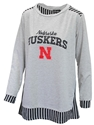 Nebraska Gals Skip The Lines Plus Tunic Nebraska Cornhuskers, Nebraska  Ladies Tops, Huskers  Ladies Tops, Nebraska Nebraska Gals Skip The Lines Plus Tunic, Huskers Nebraska Gals Skip The Lines Plus Tunic