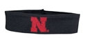 Nebraska Glitter N Stretch Headband Nebraska Cornhuskers, Nebraska  Ladies Accessories, Huskers  Ladies Accessories, Nebraska  Jewelry & Hair, Huskers  Jewelry & Hair, Nebraska Black Headband Red Glitter N Logo, Huskers Black Headband Red Glitter N Logo