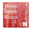 Nebraska Home Sweet Home Plank Sign Nebraska Cornhuskers, Nebraska  Framed Pieces, Huskers  Framed Pieces, Nebraska  Game Room & Big Red Room , Huskers  Game Room & Big Red Room , Nebraska Nebraska Home Sweet Home Plank Sign, Huskers Nebraska Home Sweet Home Plank Sign