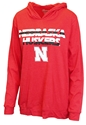 Nebraska Huskers Striped Plus Ladies Hood Nebraska Cornhuskers, Nebraska  Ladies Sweatshirts, Huskers  Ladies Sweatshirts, Nebraska  Ladies, Huskers  Ladies, Nebraska Red Stripe W Plus Hoodie Klutch, Huskers Red Stripe W Plus Hoodie Klutch