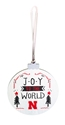 Nebraska Joy To The World Wood Ball Ornament Nebraska Cornhuskers, Nebraska  Holiday Items, Huskers  Holiday Items, Nebraska Nebraska Joy To The World Wood Ball Ornament, Huskers Nebraska Joy To The World Wood Ball Ornament