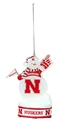 Nebraska LED Snowman Ornament Nebraska Cornhuskers, Nebraska  Holiday Items, Huskers  Holiday Items, Nebraska Nebraska LED Snowman Ornament, Huskers Nebraska LED Snowman Ornament