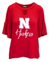Nebraska Ladies Keyhole Ruffle Sleeve Top Nebraska Cornhuskers, Nebraska  Ladies Tops, Huskers  Ladies Tops, Nebraska Nebraska Ladies Keyhole Ruffle Sleeve Top, Huskers Nebraska Ladies Keyhole Ruffle Sleeve Top
