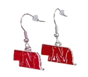 Nebraska N State Dangle Earrings Nebraska Cornhuskers, Nebraska  Jewelry & Hair, Huskers  Jewelry & Hair, Nebraska  Ladies Accessories, Huskers  Ladies Accessories, Nebraska  Ladies, Huskers  Ladies, Nebraska Nebraska N State Dangle Earrings, Huskers Nebraska N State Dangle Earrings
