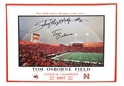 Nebraska Native Heros Rainbow Poster Nebraska Cornhuskers, husker football, nebraska cornhuskers merchandise, husker merchandise, nebraska merchandise, husker memorabilia, husker autographed, nebraska cornhuskers autographed, Tom Osborne autographed, Tom Osborne signed, Tom Osborne collectible, Tom Osborne, nebraska cornhuskers memorabilia, nebraska cornhuskers collectible, Autographed Rainbow Poster