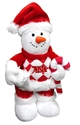 Nebraska Plush Snowman Nebraska Cornhuskers, Nebraska  Holiday Items, Huskers  Holiday Items, Nebraska Nebraska Plush Snowman, Huskers Nebraska Plush Snowman