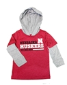 Nebraska Toddler Rail Hooded Tee Nebraska Cornhuskers, Nebraska  Childrens, Huskers  Childrens, Nebraska  Kids, Huskers  Kids, Nebraska Nebraska Toddler Rail Hooded Tee, Huskers Nebraska Toddler Rail Hooded Tee