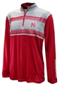 Nebraska Tuxedo Night Stripe Quarter Zip Nebraska Cornhuskers, Nebraska  Mens, Huskers  Mens, Nebraska  Outerwear, Huskers  Outerwear, Nebraska Nebraska Tuxedo Night Stripe Quarter Zip, Huskers Nebraska Tuxedo Night Stripe Quarter Zip
