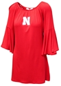 Nebraska Off Shoulder Bell Sleeve Dress Nebraska Cornhuskers, Nebraska  Shorts, Pants & Skirts, Huskers  Shorts, Pants & Skirts, Nebraska Red Off Shoulder Bell Sleeve Dress FC, Huskers Red Off Shoulder Bell Sleeve Dress FC