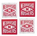 Nebraska Huskers Diamond Coasters Set Nebraska Cornhuskers, Nebraska  Bedroom & Bathroom, Huskers  Bedroom & Bathroom, Nebraska  Game Room & Big Red Room , Huskers  Game Room & Big Red Room , Nebraska Red White Square 4 Pack Diamond Coasters Legacy, Huskers Red White Square 4 Pack Diamond Coasters Legacy