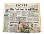 Scott Frost Autographed 1998 Orange Bowl Journal Star (Jan. 1) Preview Paper  Scott Frost Autographed 1998 Orange Bowl Journal Star January 1st Preview Paper