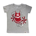 Toddler Gals Husker Cheerleader Tee Nebraska Cornhuskers, Nebraska  Childrens, Huskers  Childrens, Nebraska  Kids, Huskers  Kids, Nebraska Toddler Gals Husker Cheerleader Tee, Huskers Toddler Gals Husker Cheerleader Tee