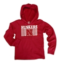 Toddler Huskers Repeat LS Jersey Hoodie Nebraska Cornhuskers, Nebraska  Childrens, Huskers  Childrens, Nebraska  Kids, Huskers  Kids, Nebraska Toddler Huskers Repeat LS Jersey Hoodie, Huskers Toddler Huskers Repeat LS Jersey Hoodie