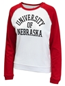 University of Nebraska Ladies Raglan Terry Crew Sweat Nebraska Cornhuskers, Nebraska  Ladies Sweatshirts, Huskers  Ladies Sweatshirts, Nebraska  Ladies, Huskers  Ladies, Nebraska Raglan W Crew Terry Sweatshirt League, Huskers Raglan W Crew Terry Sweatshirt League
